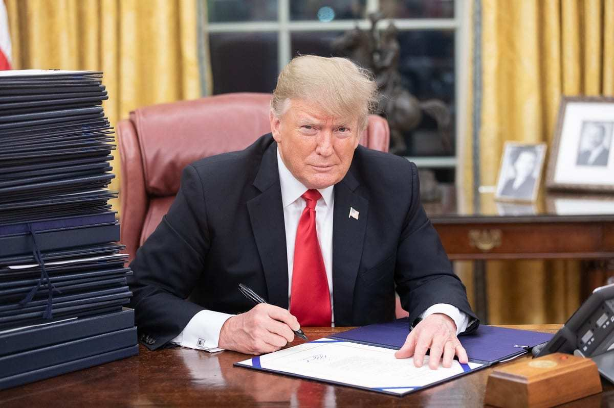 President Trump at his desk