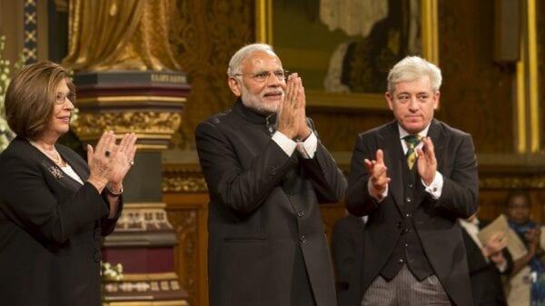 Prime Minister Modi of India visits UK Parliament